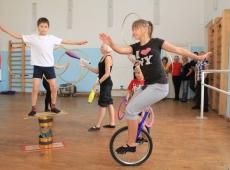 Занятия детей в цирке